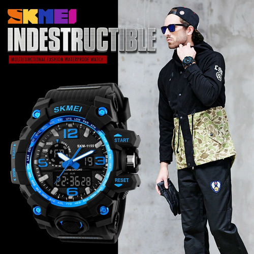 relógio masculino esporte wr resistente água 1155