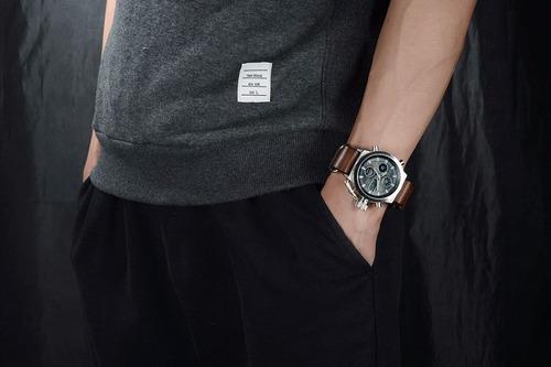 relógio masculino esportivo analógico digital barato couro