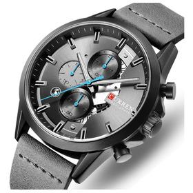 Relógio Masculino Esportivo Analogico Militar Curren Luxo