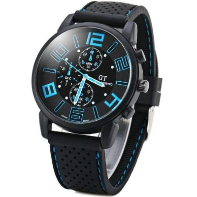 relógio masculino esportivo analogico pulseira de silicone