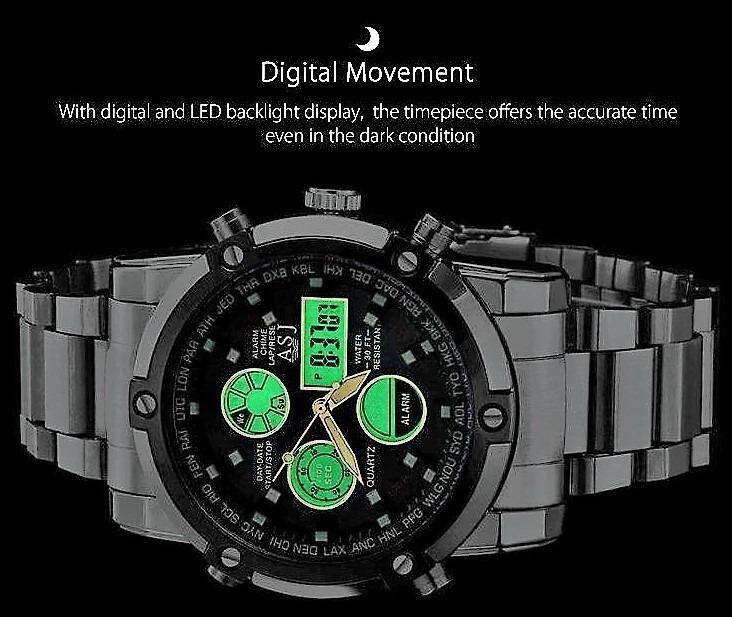 779c337242e Relógio Masculino Esportivo Asj Movim. Quartzo Japonês Luxo - R  148 ...