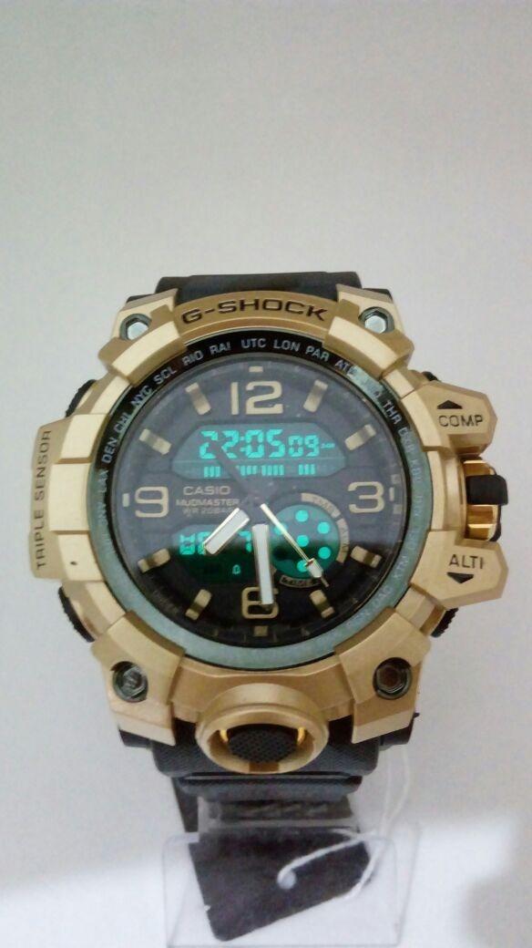 b8c771a0b70 relógio masculino esportivo atacado g-shock casio preto dour. Carregando  zoom.