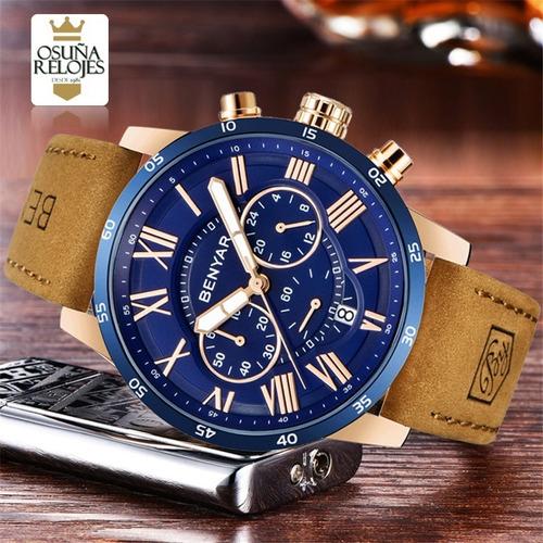 relógio masculino esportivo benyar elegante 100% funcional