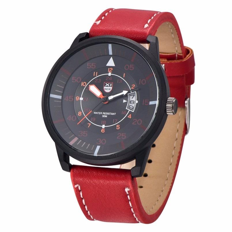 7872e8120 relógio masculino esportivo bonito barato vermelho e preto. Carregando zoom.