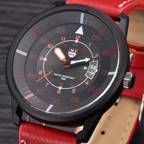 93fd0c41c Relógio Masculino Esportivo Bonito Barato Vermelho E Preto - R  44 ...