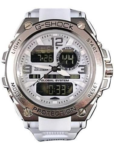 relógio masculino esportivo digital e analógico sem caixa