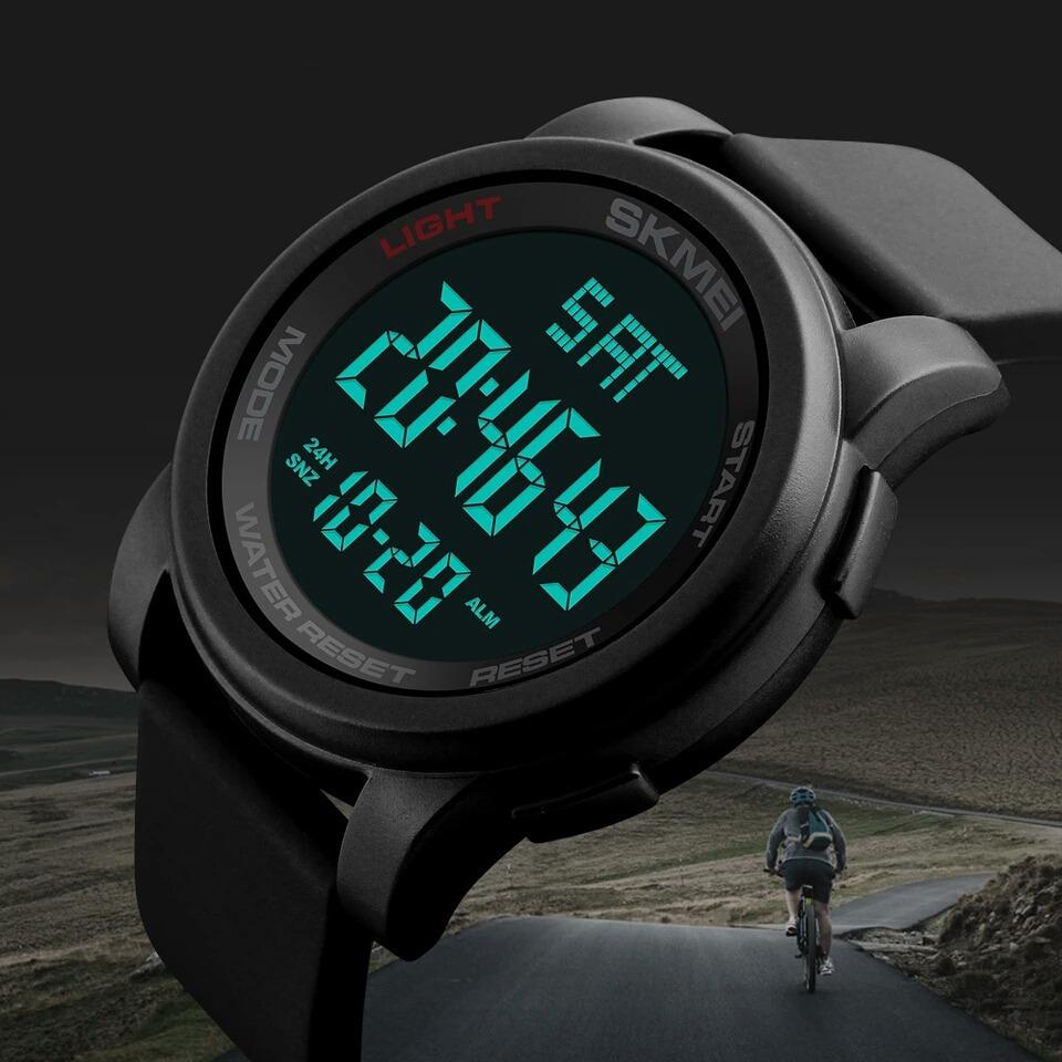 3064b7357ce relógio masculino esportivo digital led pulseira silicone. Carregando zoom.