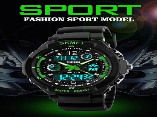 relógio masculino esportivo digital prova d'água original
