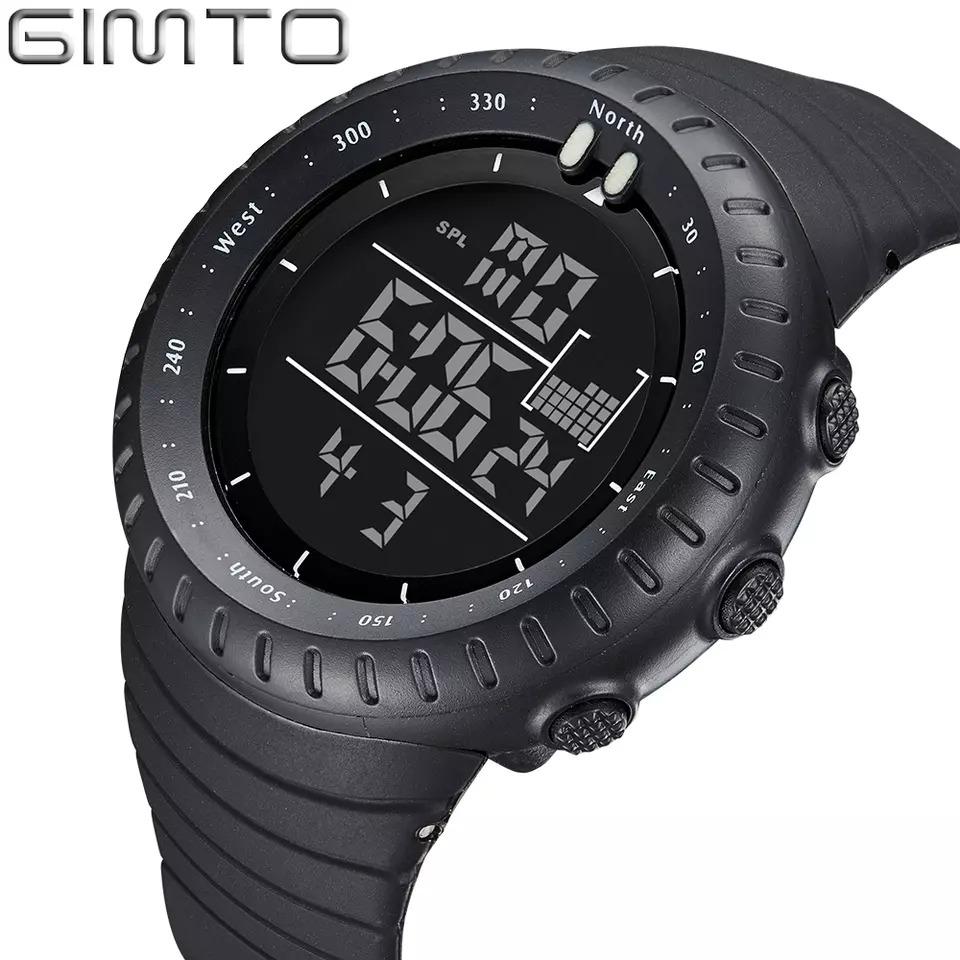 c54214c9f7a relógio masculino esportivo gimto digital preto original. Carregando zoom.