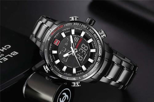 relógio masculino esportivo luxo naviforce frete grátis