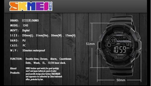 relógio masculino esportivo militar shock digital original