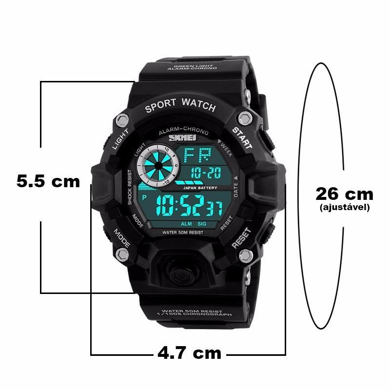 f547928a77c Relógio Masculino Esportivo Militar Shock Digital Original - R  65 ...