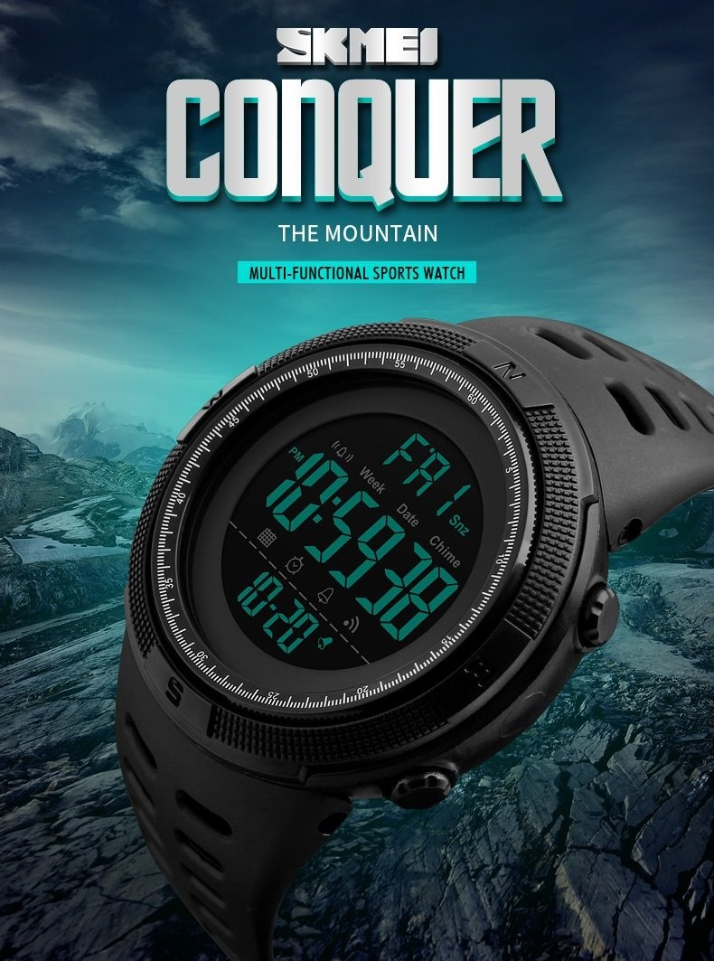 5cf6809a7a1 relógio masculino esportivo original digital presente top! Carregando zoom.