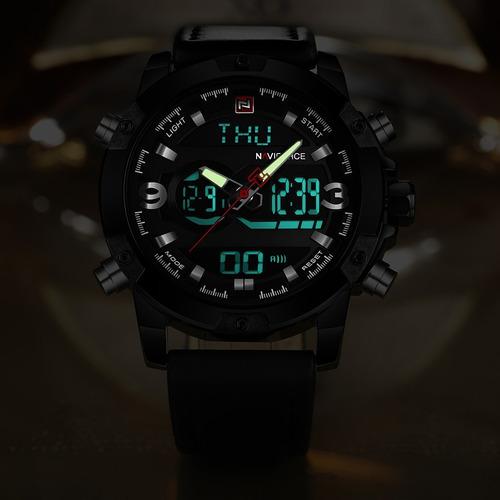 relógio masculino esportivo original naviforce fg