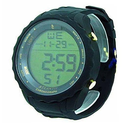 9a168ad5b34 Relógio Masculino Esportivo Preto Digital Prova Àgua Militar - R  57 ...