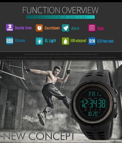 relógio masculino - esportivo - prova d'água - corrida