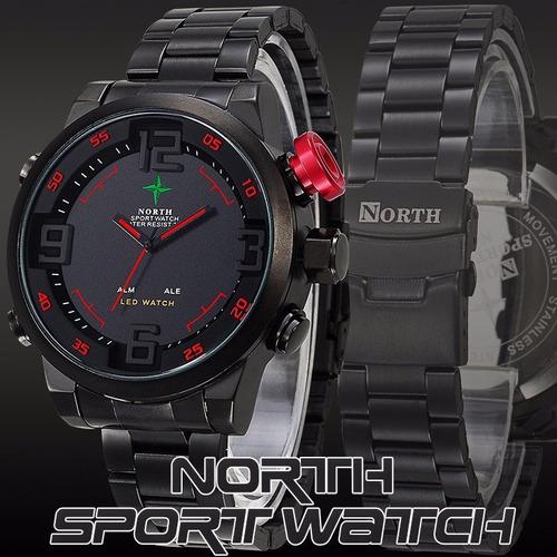 relógio masculino esportivo - pulseira aço