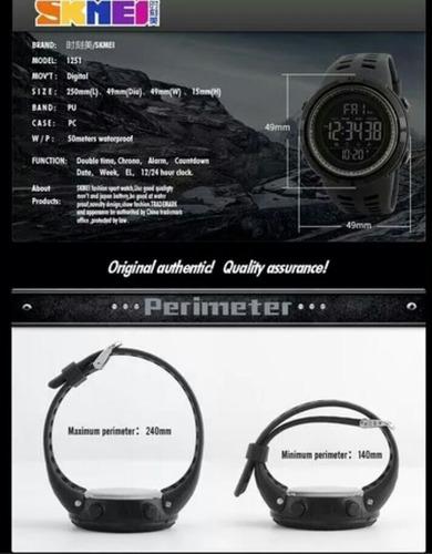 relógio masculino esportivo skmei 1251 preto pronta entrega