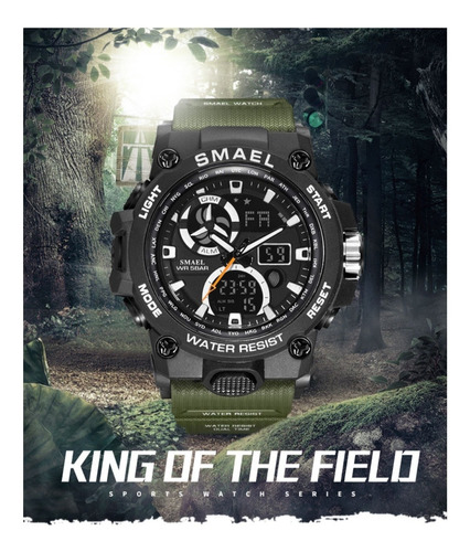 relógio masculino esportivo smael shock militar