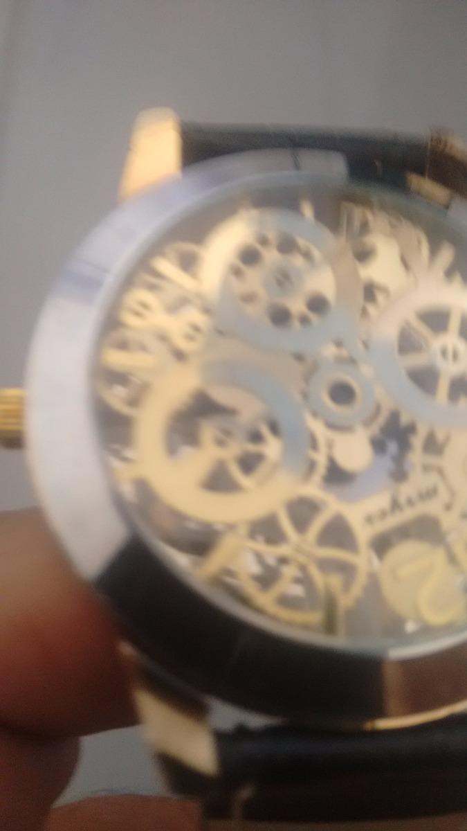 e80c3c3c9fa relógio masculino esqueleto mryes. Carregando zoom.
