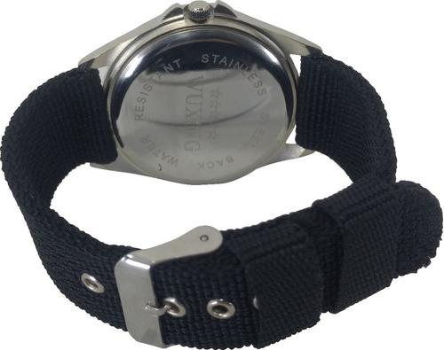 relogio masculino estilo fino de quartzo pulseira de nylon