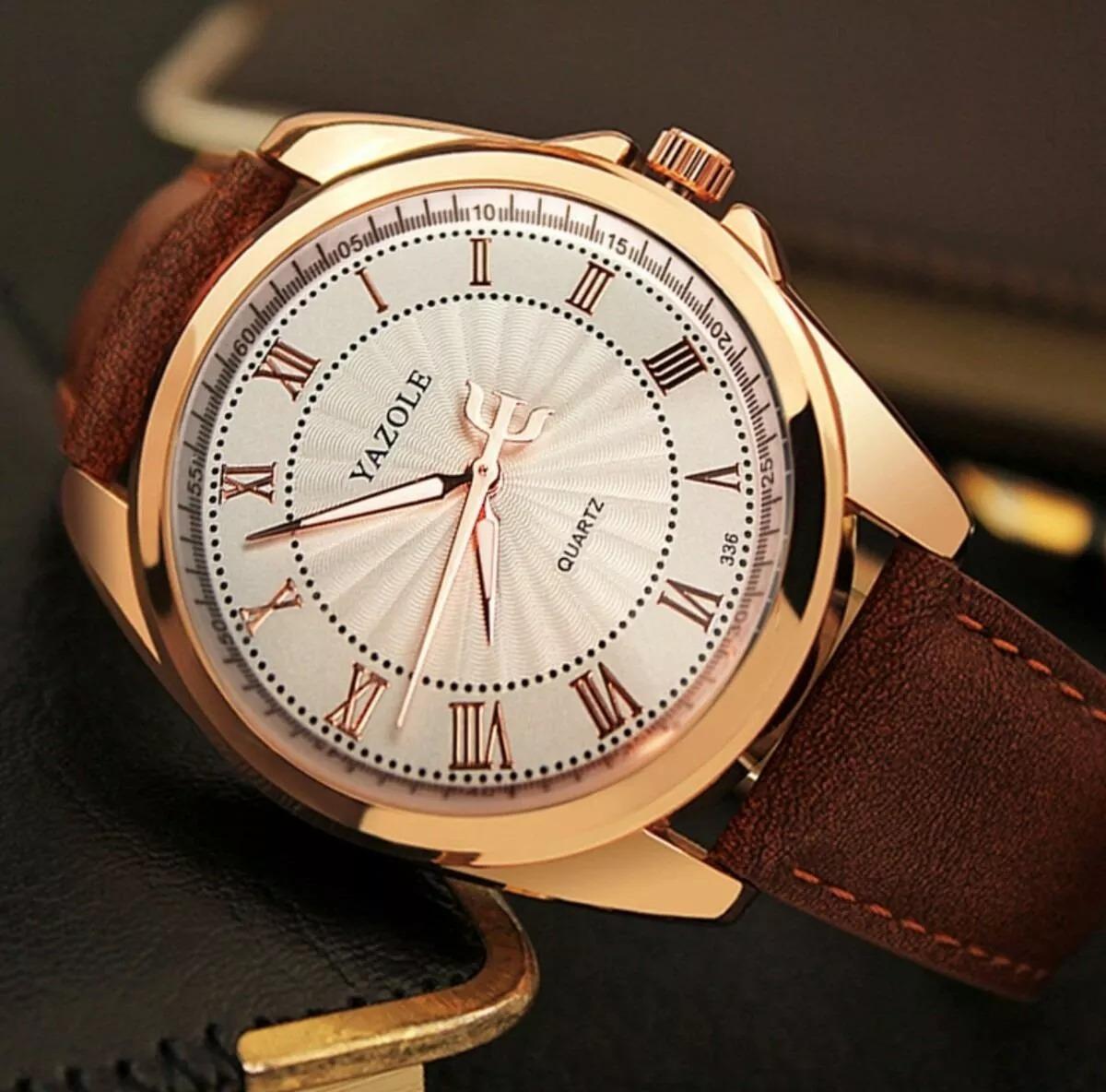 5ef8e5e8366 relógio masculino estiloso de luxo marrom original yazole. Carregando zoom.