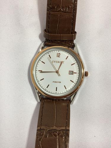 relógio masculino everest ew-20018-13 feminino - gold suave