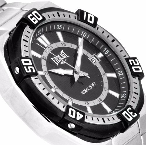 62fa870b3f0 original relógio masculino everlast prata preto esportivo · relógio  masculino everlast