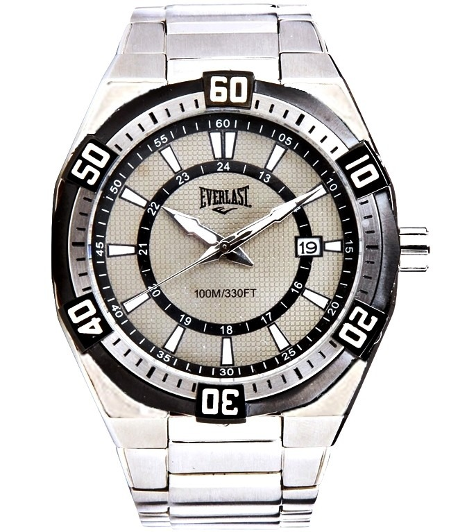 ce6ed2e50a2 Relógio Masculino Everlast Esportivo Prova Dagua Prata Aço - R ...