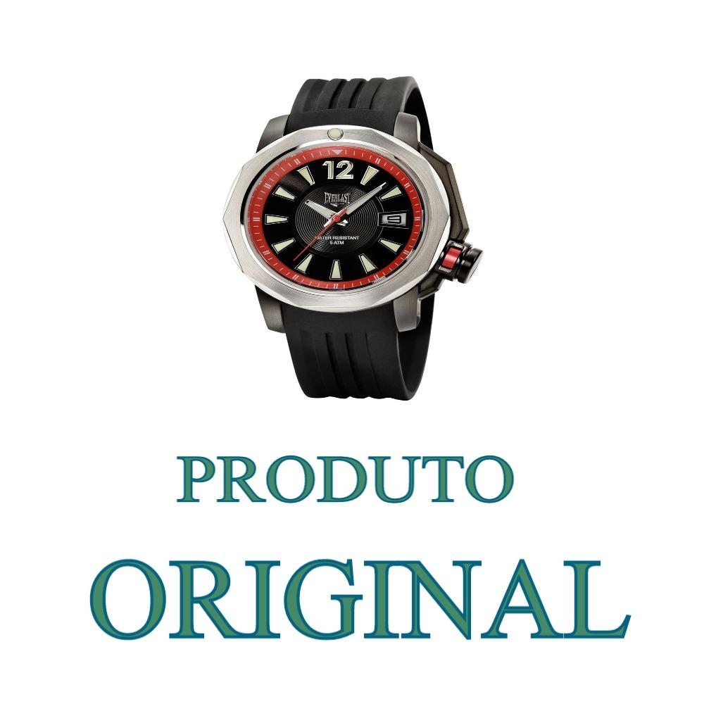 3c1e4b6df6c relógio masculino everlast original novo. Carregando zoom.