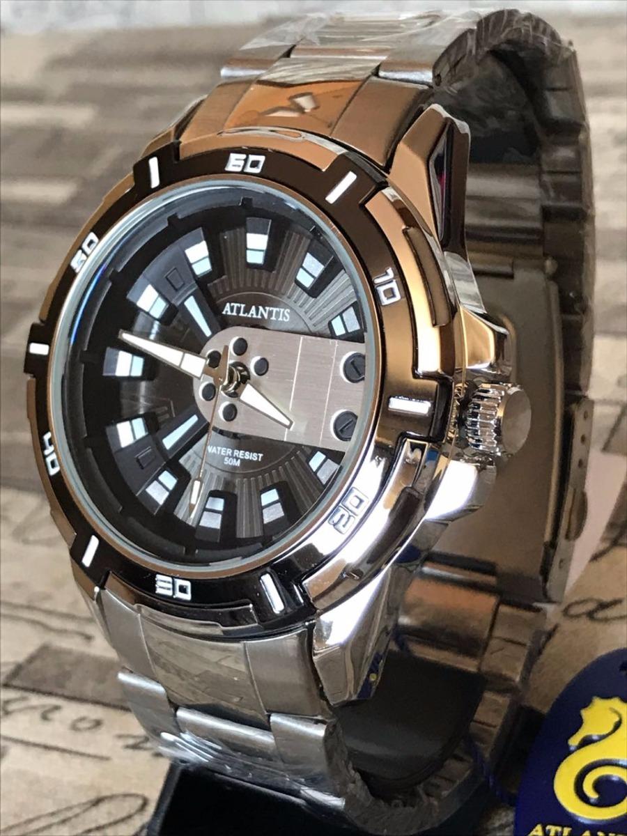 4428389f795 relógio masculino exclusive atlantis original dourado + caix. Carregando  zoom.