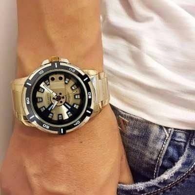 e5fe3a1aaae Relógio Masculino Exclusive Atlantis Original Dourado + Caix - R ...