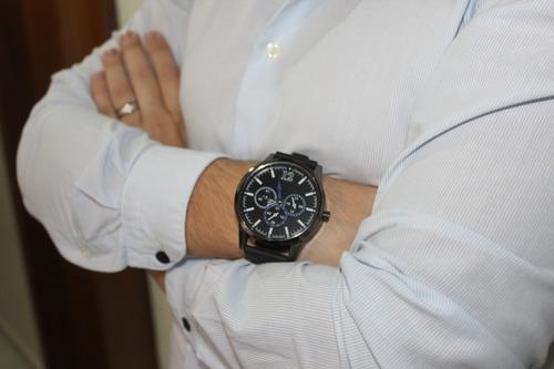 relogio masculino executivo | azul/preto