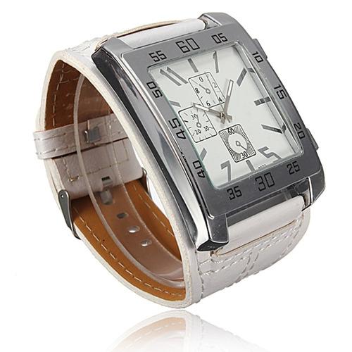relogio masculino feminino bracelet quadrado pulseira branca
