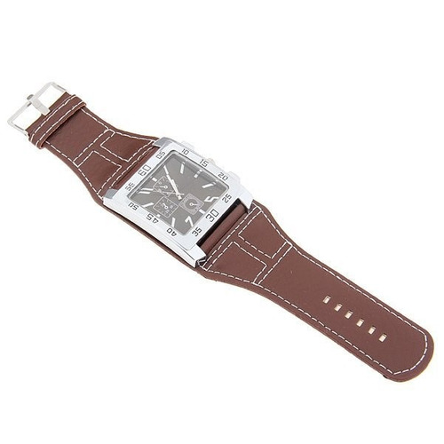 relogio masculino feminino bracelet quadrado pulseira marrom