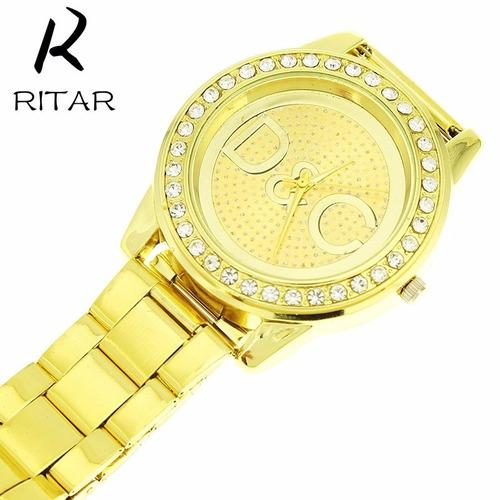 relogio masculino feminino marca de luxo 2016 dourado