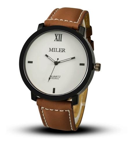 relógio masculino feminino miler luxo quartzo esporte social
