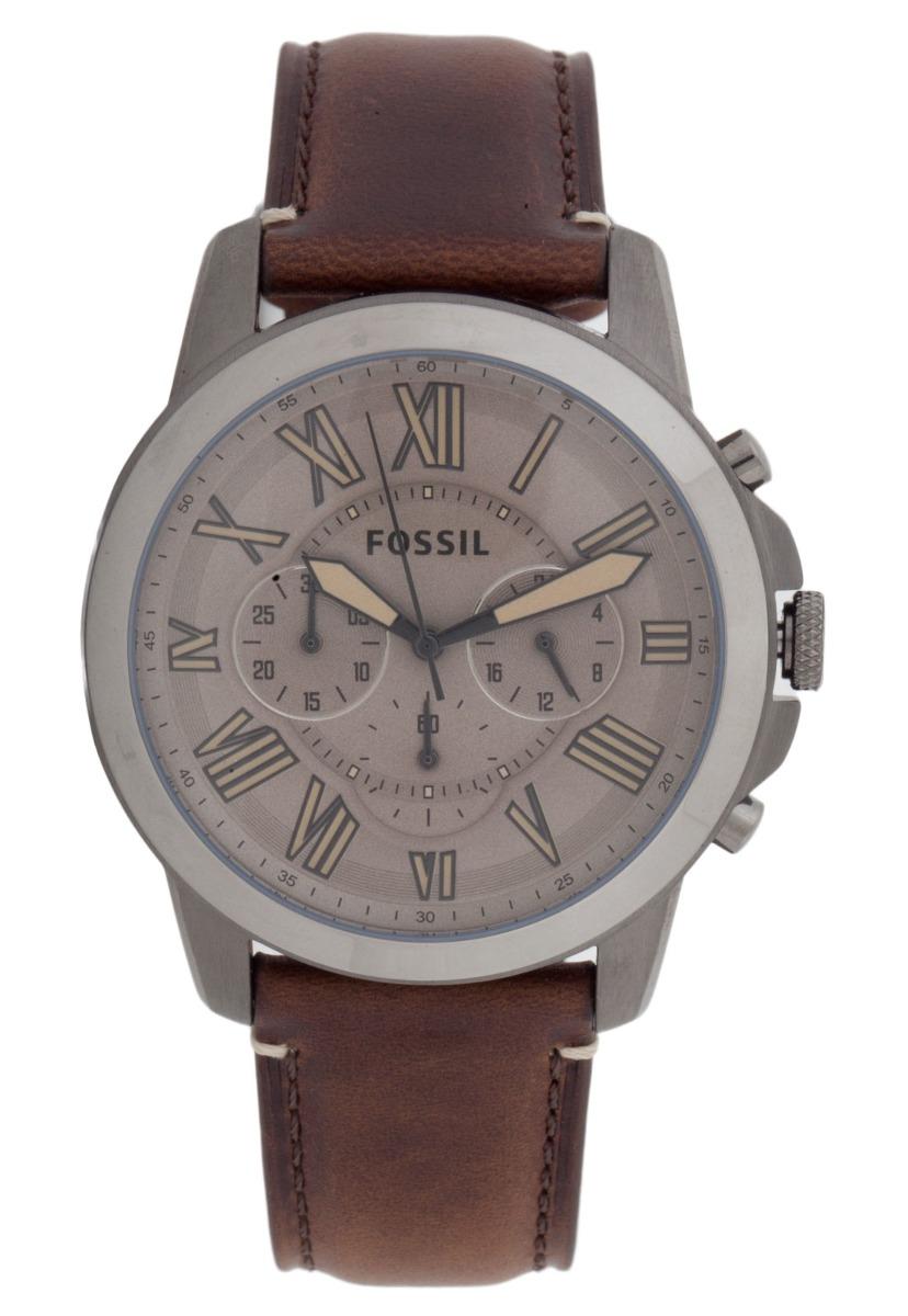 Relógio Masculino Fossil Fs5214 0mn Fume Pulseira Couro - R  447,95 ... f4a9872dfb