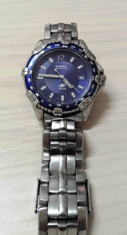 d82d7817dd7 relógio masculino fossil blue. Carregando zoom.