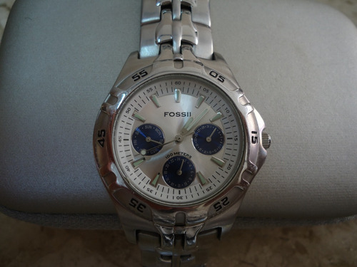 relógio masculino fossil blue