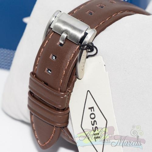 relógio masculino fossil couro fs4735 original importado