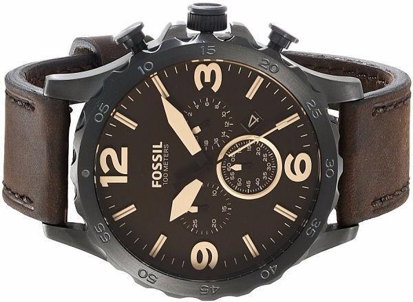 f732cb68cd5d7 Relógio Masculino Fossil Nate Cronógrafo Jr1487 Original - R  740,00 em  Mercado Livre