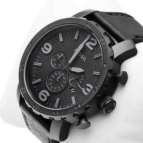 Relógio Masculino Fossil Preto Fosco - Jr1354 Original Couro - R  659,99 em  Mercado Livre 2439bf2629