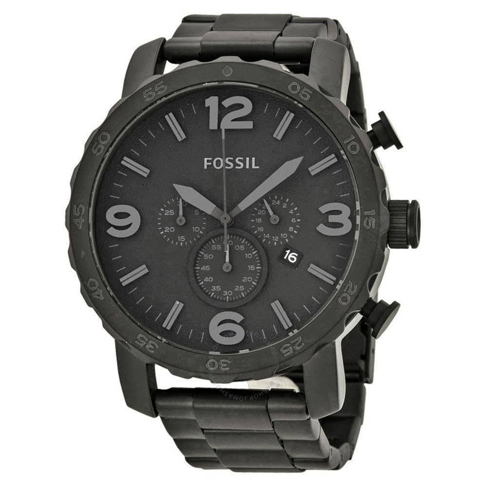 Relógio Masculino Fossil Preto Fosco - Jr1401 - R  669,00 em Mercado ... 2358858041