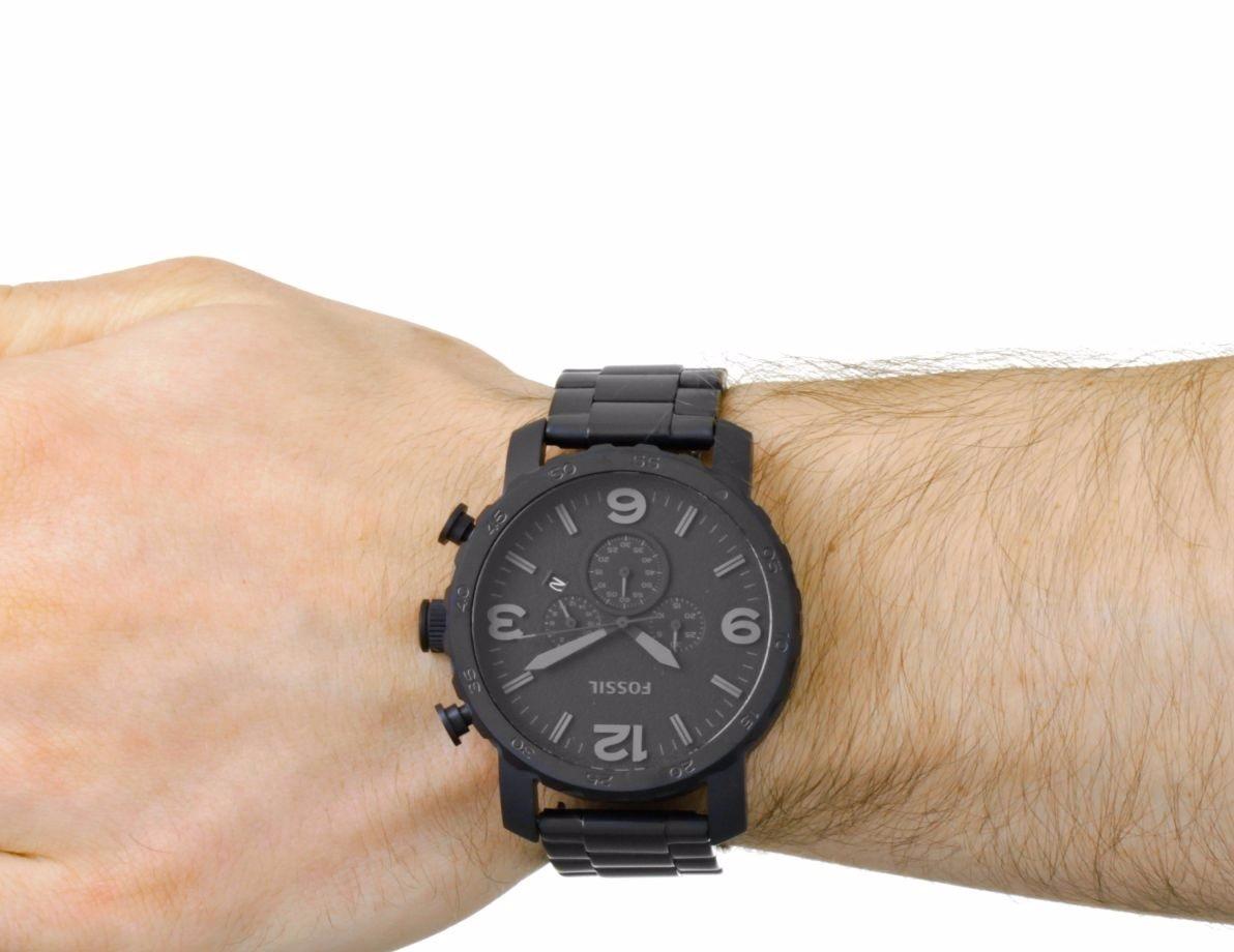 Relógio Masculino Fossil Preto Fosco - Jr1401 Barato - R  629,99 em ... 8787bb27f0