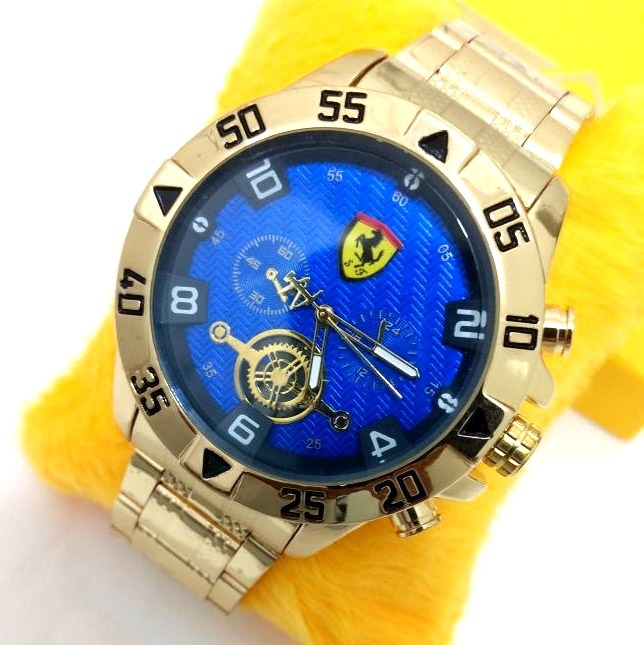 3608565db08 Relógio Masculino Fundo Azul Ferrari Lindo - R  69