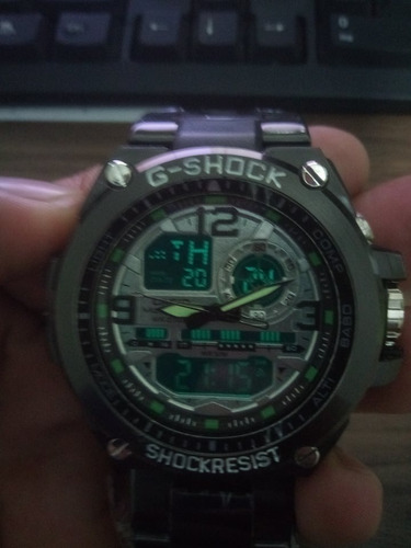 relógio masculino g shock aço á prova d' água