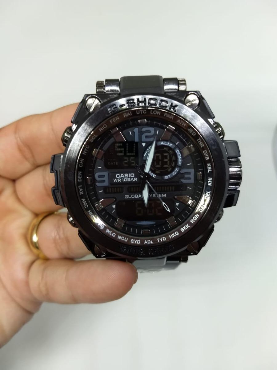 263944b0f7f relógio masculino g-shock c  pulseira de metal frete grátis. Carregando  zoom.