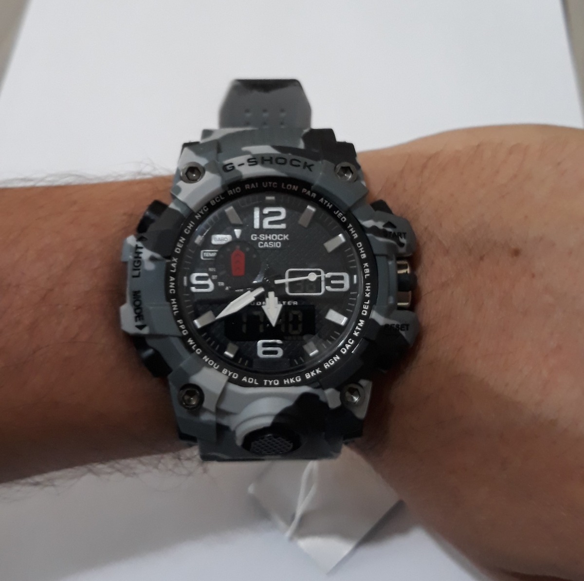 c51f902cb49 Relógio Masculino G - Shock Cinza Camuflado (à Prova D água) - R ...