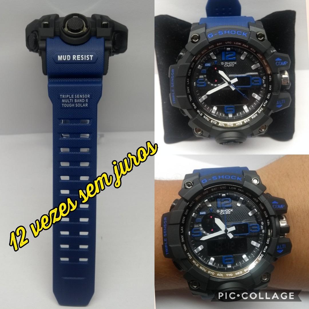 667f815d1d3 relógio masculino g-shock esportivo azul prova d`agua+caixa. Carregando  zoom.